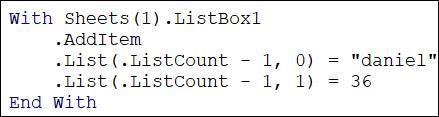 listbox dans Excel