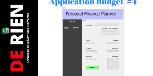 Application gestion de budget